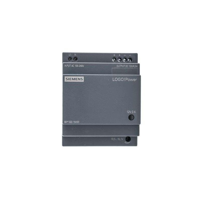 6EP1322-1SH03 SIEMENS LOGO!POWER 12 V/4.5 A STABILIZED POWER SUPPLY