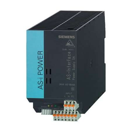 3RX9502-0BA00 SIEMENS AS-INTERFACE POWER SUPPLY 120V/230V AC 5A